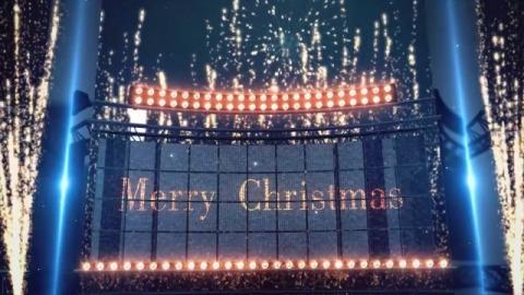 大气广告牌圣诞祝福