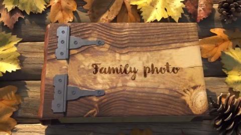 复古温馨家庭相册模板