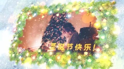 雪夜花环圣诞相册