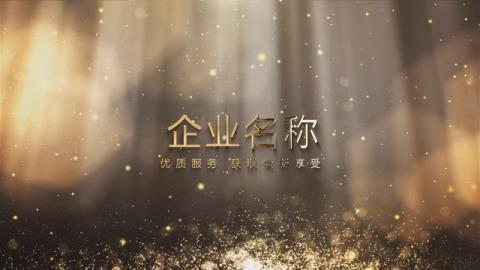 金色大气年会企业品牌宣传图片文字展示