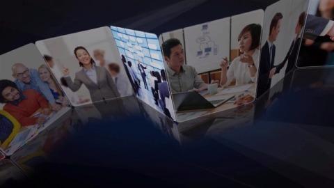 企业折页员工团队风采品牌形象图片展示