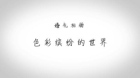 中国风色彩缤纷婚礼生活相册